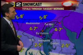 February 21 snow map